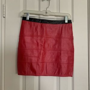 On Fire Faux Leather Mini Skirt